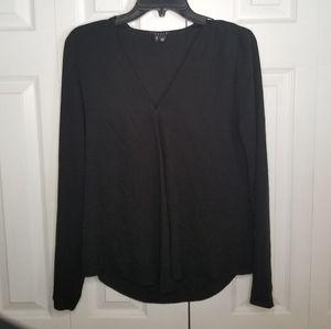Theory 100% Silk Blouse P/TP Black